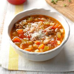 Slow-Cooker pasta e fagioli recipe soup recipes Copycat Recipes, Meat Recipes, Slow Cooker Recipes, Crockpot Recipes, Dinner Recipes, Cooking Recipes, Meatloaf Recipes, Easy Cooking, Salad Recipes