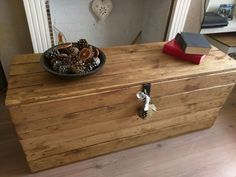 Rustic Storage Bench Seat Handcrafted from by TimberWolfFurniture