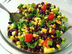 Chilled Black Bean & Corn Salad (2 Weight Watchers PointsPlus) #weightwatchers #healthy