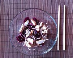 Soba with beet and balsamic vinegar