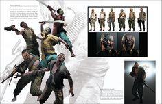 Imagen del J'avo a como aparecio en China el libro de arte de Resident Evil 6. ///  Image of J'avo, as it appeared in China in the Resident Evil 6 Artbook.