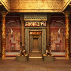 Cleopatras Palast – Robert Owoicho Ichagba – Join the world of pin Egyptian Temple, Egyptian Art, Ancient Egypt History, Ancient Art, Ancient Greek, Ancient Egyptian Architecture, Gothic Architecture, Prince Of Egypt, Empire Romain