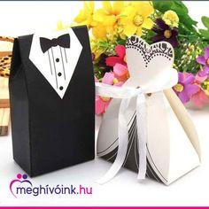 Tuxedo Dress Bride Wedding Bomboniere Ribbon Boxes Favor Guest Candy for sale online Ribbon Box, Ribbon Candy, Gift Ribbon, Wedding Favours, Wedding Bride, Bride Groom, Dream Wedding, Wedding Ideas, Party Wedding