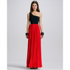 Women's Alexis Zabrina Two-Tone Maxi Dress ($565) ❤ liked on Polyvore