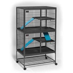"""Midwest Ferret Nation Double Unit Cage Gray 36"""" x 25"""" x 62.5"""""""