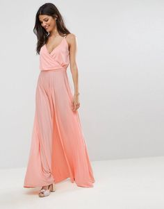 6f6fa8fc2b7 Blouson Wrap Maxi Dress With Tie Waist