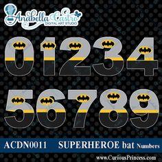 INSTANT DOWNLOAD Batman inspired clipart por ACDigitalArtStudio