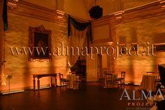 ALMA PROJECT @ Villa Corsini - Sala Gordigiani - Led bars on wall light amber 487