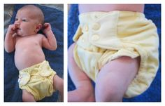 Do one-size diapers fit newborns? Take a look and see what you think!
