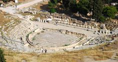 FIRST STONE THEATRE. The first stone theatre ever built, and the birthplace of Greek tragedy, was the theatre of Dionysus, which was cut into the southern cliff face of the Acropolis.
