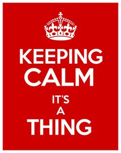 Keeping Calm It's a Thing 11x14 Print Poster by HappyLittleGarden, $18.00