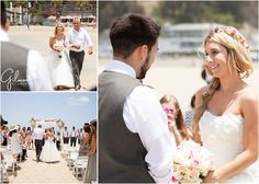 Manny + Shelby's beach wedding – Santa Monica – Los Angeles Wedding Photographer, First look, love, cute, couples, in love, flower headband, beach, waves, summer, wedding dress, pink and white color scheme, wedding venues, wedding photographers, bridesmaids, groomsmen, bow ties, suspenders, fun, candid photos, dancing in the beach, cute, adorable, husband and wife team photographers, Orange County photographers, GilmoreStudios.com