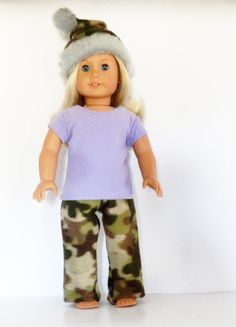 Camo and Purple Hunting Party Outfit for Dolls by something2do