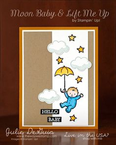 stampin up moon baby cards | 1000+ images about Baby Cards on Pinterest | Scallops, Baby girls and ...