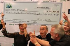 Here is Jason receiving one of his checks. This could be you very soon! http://www.sokule.com/sk/20127/Infinity-2-Global-is-on-Fire!.html