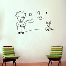 Brand New The Little Prince Fox Moon Star Decor Mural Art Wall Sticker Decal home decor room decoration brand new(China (Mainland))