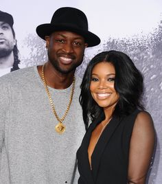 Gabrielle Union and Dwyane Wade - Age difference: 9 years The 42-year-old actress (who played a teenage cheerleader in Bring It On when she was 27) and 33-year-old NBA star began dating in 2009. After five years together, the pair tied the knot in Miami last year.