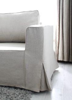 IKEA Manstad Sofa Bed Custom Linen Slipcovers - contemporary - living room - melbourne - Comfort Works
