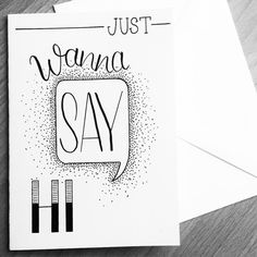 Handlettering ~ just wanna say HI Calligraphy Quotes Doodles, Doodle Quotes, Handwritten Quotes, Typography Quotes, Doodle Art, Creative Lettering, Brush Lettering, Diy Postcard, Drawing Quotes
