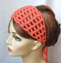 SALE Coral Crochet Headband, Spring Summer Headband, Choose Color, Beach wear, Gifts for her, Photo Prop, Birthday Gifts, Handmade - HBJE114