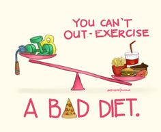 You can't out-exercise a bad diet..
