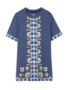 Tory Burch Printed Cotton Jersey T-Shirt