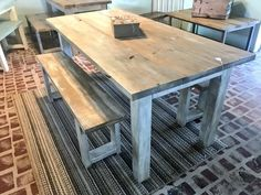 Small Square Dining Table, Dining Table With Drawers, Farmhouse Dining Table Set, Wooden Dining Tables, Patio Table, Dining Room Table, Picnic Table, Dining Area, Diy Patio Furniture Cheap