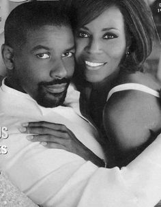 Denzel Washington and his beautiful wife Pauletta, married since 1983