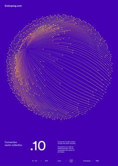 炫目動感的點線向量圖形 | MyDesy 淘靈感
