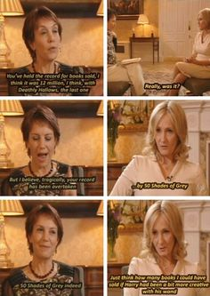 JK Rowling talks about 50 Shades of Grey.