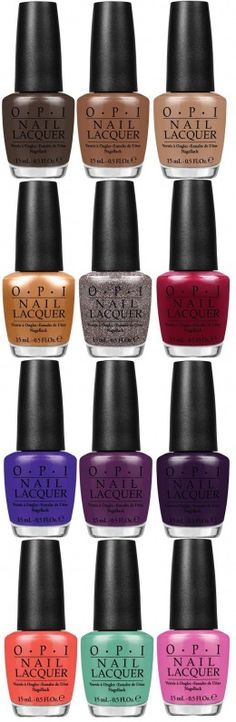 OPI Nordic collection - Fall 2014