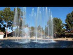 Fountain and Rainbow Chandler Arizona, Fountain, Waterfall, Rainbow, City, Youtube, Outdoor, Rain Bow, Outdoors