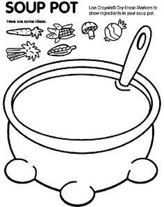 Soup Pot coloring page