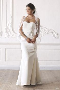 lilly 2014 bridal strapless wedding dress 08 3267 cr