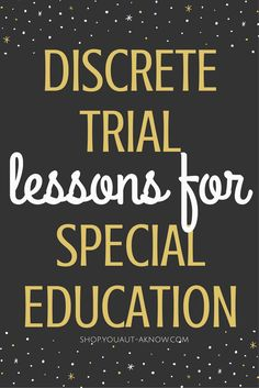 Discrete Trial Training is an Evidence Based Practice for Autism. I use it in my Special Education classroom to teach many academic skills. Check out all the skills I teach using DTT in my classroom! Life Skills Classroom, Autism Classroom, Classroom Ideas, Autism Education, Education Major, Autism Activities, Autism Resources, Self Contained Classroom, Special Education