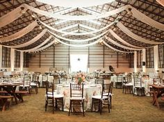 indoor arena- I will have to show this to my friend who is having her wedding in this type of venue.