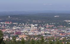 Sundsvall North Mountain from South Mountain by northofsweden, via Flickr