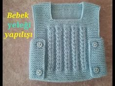 baby vest making (voice narration from start to finish) - Kindermode Easy Knitting Patterns, Knitting Stitches, Knitting Designs, Baby Knitting, Crochet For Kids, Crochet Baby, Knit Vest Pattern, Knit Baby Dress, Knitted Baby Cardigan