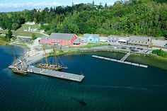 Aerial view of Discovery Harbour, Penetanguishene, Ontario, Canada Samuel De Champlain, British Soldier, Rest Of The World, Aerial View, Quebec, Georgian, Ontario, Places Ive Been, Discovery