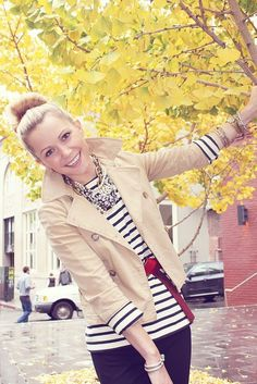 Recreate : CAbi vintage spring '12 chamois jacket w/CAbi spring '13 new stripe tee  Love the classic look