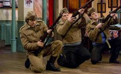 To mark the anniversary of the first Dad's Army broadcast the BBC has released a series of never-before-seen documents and pictures ahead of a Jonathan Ross-hosted tribute show on Sunday, August 3 Durham Museum, Are You Being Served, Dad's Army, Jonathan Ross, Home Guard, Don't Panic, The Guardian, Comedy, Tv Shows