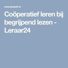 Coöperatief leren bij begrijpend lezen - Leraar24