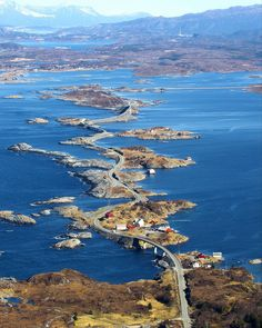 """""""Atlantic Road, Norway By: @perkvalvik Tag someone you would travel with """""""
