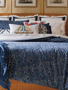 Upgrade your master or guest suite with the stylish Montauk Bedding Collection features fresh and understated ambiance to your home.