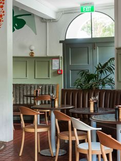 Old Elephant House is a new brasserie and courtyard bar located at Auckland Zoo, set in the beautiful historic house where the elephants used to spend their days. Historic Homes, Auckland, Elephants, Bar, Table, Projects, House, Furniture, Beautiful