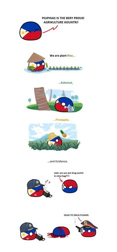 """Wiggly mouse-drawn comics where balls represent different countries. They poke fun at national stereotypes and the """"international drama"""" of their. Funny Art, Funny Memes, Hilarious, Filipino Funny, Weird Dreams, Good Jokes, Historical Pictures, Weird Facts, Funny Comics"""