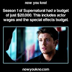 Supernatural. WOW!!! How amazing is it that so many people put so much time love and care into what is an indescribable season for so little monetary value in a society where the monetary value speaks volumes. Also the fact that they could do all of those amazing special effects and it looked fantastic on that budget. LOVE THEM!