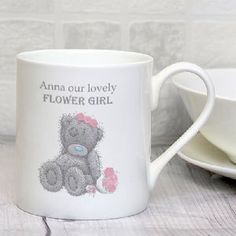 Personalised Me To You Girls Wedding Mug for Bridesmaid or Flower Girl