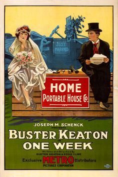 """A poster for Buster Keaton's """"One Week"""" (1920)"""