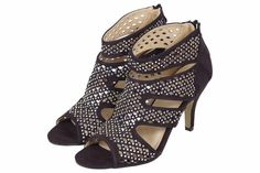 NEW WOMENS STILETTO HEEL CUT OUT LADIES PEEP TOE CAGED SANDALS SHOES UK SIZE 3-8